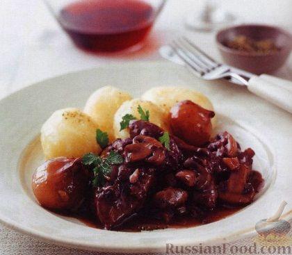 Рецепт Куриное мясо, тушенное в вине