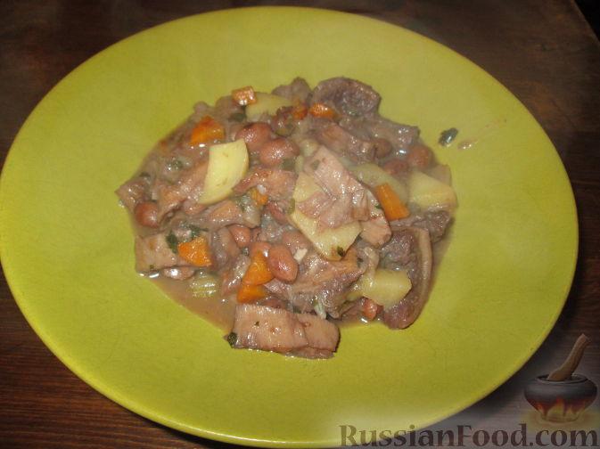 Рецепт Рубец с фасолью и картофелем