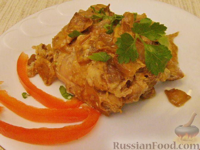 Рецепт Куриные бедрышки в сливочном соусе