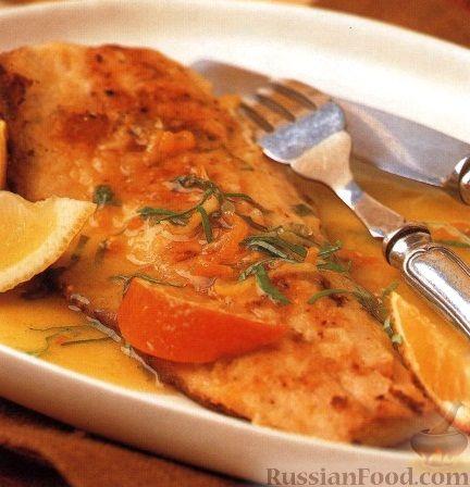 Рецепт Жареная форель с цитрусовым соусом