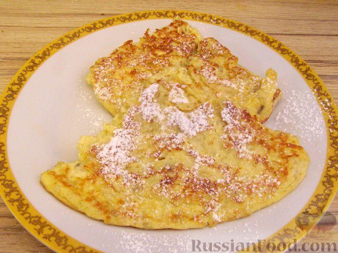 Рецепт Сладкий банановый омлет с сыром