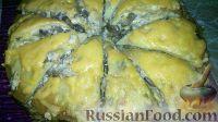 Фото к рецепту: Блинчатый пирог с шампиньонами