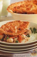 """Фото к рецепту: """"Пирог"""" с курицей и овощами"""