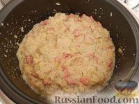 Фото приготовления рецепта: Капустная запеканка с сыром (в мультиварке) - шаг №4