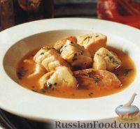 Фото к рецепту: Рыбный суп с креветками