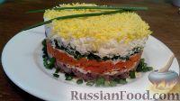 Фото к рецепту: Салат «мимоза» слоеный