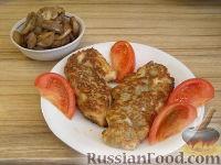 Фото к рецепту: Куриное филе в грибном кляре