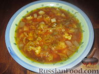 Фото к рецепту: Суп с репой и бататом