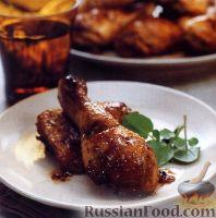 Фото к рецепту: Куриное мясо, жаренное в остром соусе