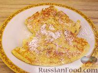 Фото к рецепту: Сладкий банановый омлет с сыром