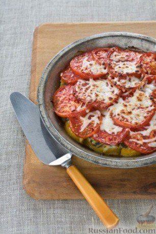 Рецепт Свинина запеченная под шубой из перцев и помидор.