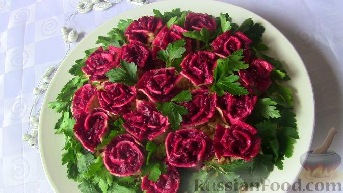 "Рецепт Салат ""Розы"""