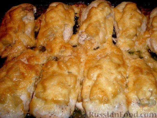 Рецепт Куриные грудки с ананасом
