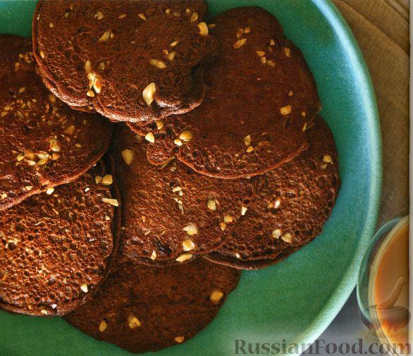 Рецепт Шоколадные блинчики с орешками