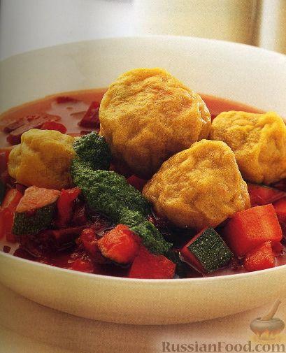 """Рецепт Суп с овощами и пряными """"кубби"""" с бараниной"""