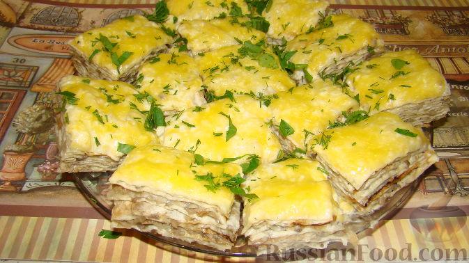 Рецепт Закусочный торт из лаваша