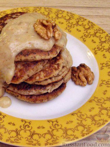 Рецепт Дважды ореховые оладушки
