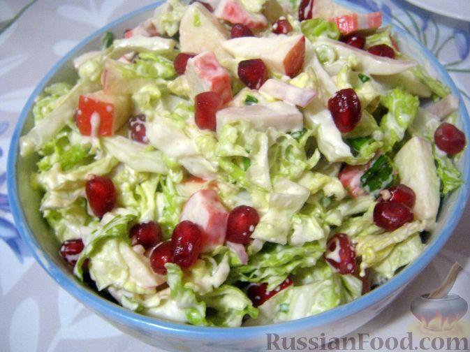 Как приготовить салат из граната