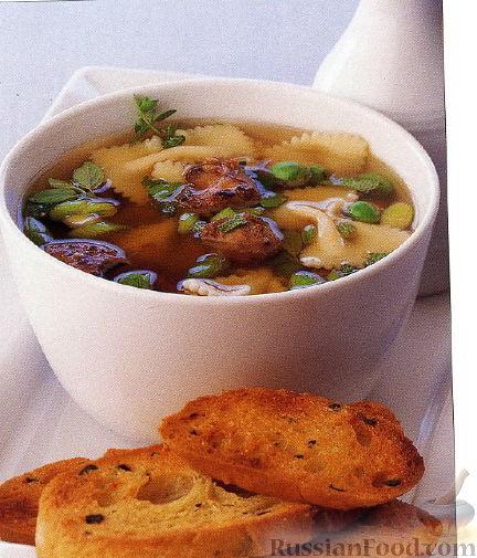 Рецепт Суп с куриной печенью и макаронами