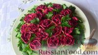 """Фото к рецепту: Салат """"Розы"""""""