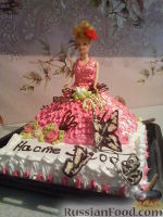 "Фото к рецепту: Торт ""Кукла Барби"""