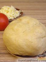 Фото к рецепту: Пресное тесто для пиццы