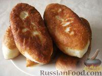 Фото к рецепту: Жареные пирожки с картошкой (постные)