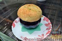 Фото к рецепту: Жаркое из свинины с овощами, в горшочке, с пампушкой
