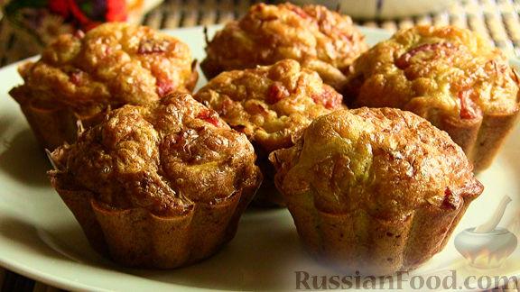 Рецепт Капустные кексики с колбасой