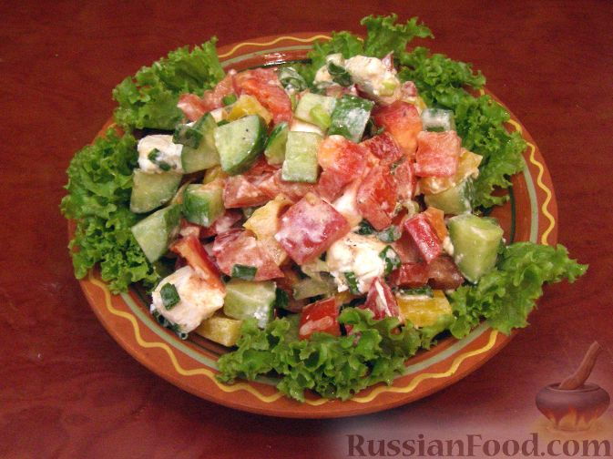 Рецепт Овощной греческий салат