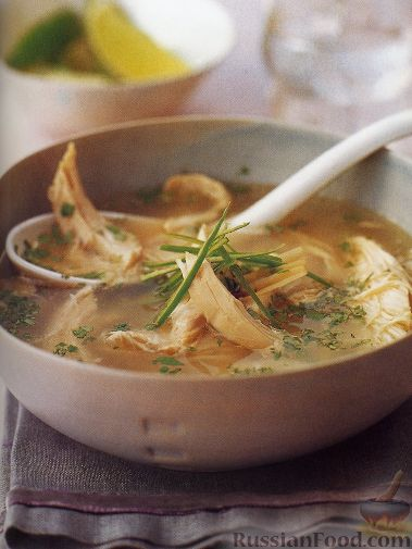Рецепт Куриный суп с рисом и лемонграссом