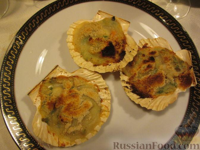 Рецепт Морские гребешки, запеченные с пюре
