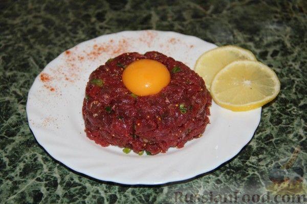 Рецепт Бифштекс по-татарски (тар-тар из говядины)