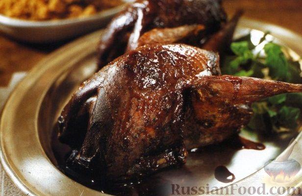 Рецепт Рябчики, жаренные в духовке