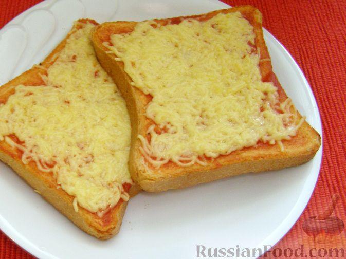 Рецепт Гренки с кетчупом и сыром