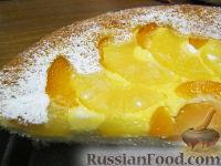 """Фото к рецепту: Творожно-фруктовый пирог """"Солнышко"""""""