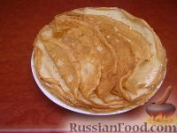 Фото к рецепту: Тонкие блинчики
