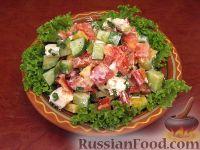 Фото к рецепту: Овощной греческий салат