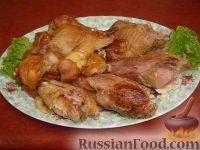 Фото к рецепту: Индейка в горчичном соусе, запеченная с яблоками