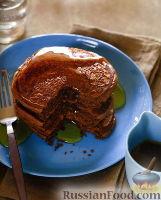 Фото к рецепту: Шоколадные блинчики с арахисовым маслом
