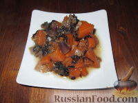 Фото к рецепту: Гарнир из тыквы и радиккио