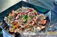Фото к рецепту: Китайский суп с лапшой, курицей, овощами, креветками