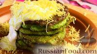 Фото к рецепту: Оладьи из брокколи с сыром