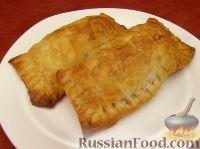 Фото к рецепту: Пирожки из слоеного теста с картошкой и фасолью