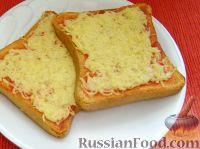 Фото к рецепту: Гренки с кетчупом и сыром