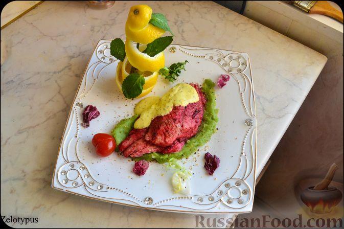 Рецепт Дорадо с картофельным пюре и сливочным соусом с карри