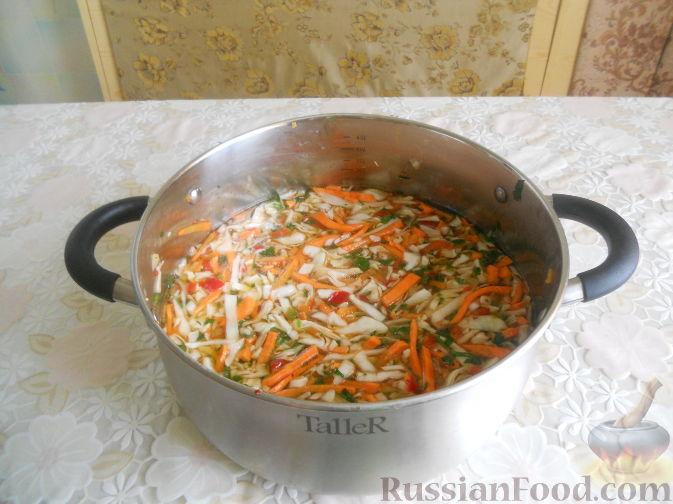 Рецепт Острая капуста в маринаде