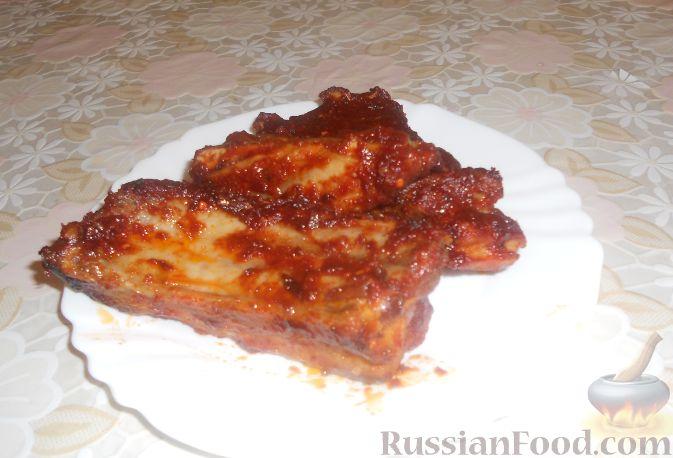 Рецепт Острые свиные ребрышки в соусе