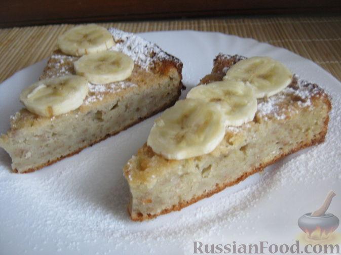 Рецепт Банановый пирог к чаю