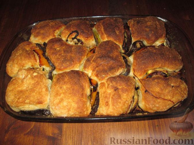 Рецепт Разборный хлеб-пирог с овощами гриль